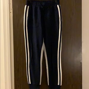 Joie Gray and Navy Stripe Joggers